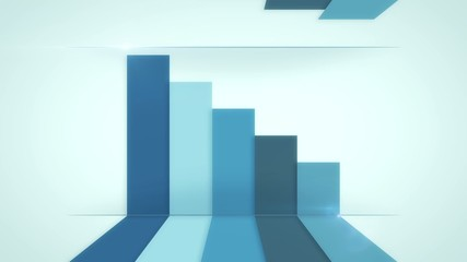 background for business infographics with blue lines, loop