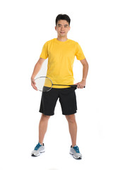 asian male chinese badminton player