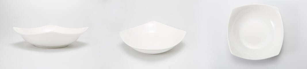Dishes, isolated on a white