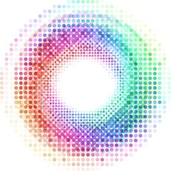 Abstract colorful dots background illustration