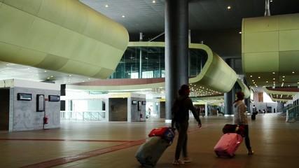 travelers at railway station
