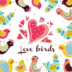 Postcard with birds.