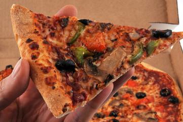 Un morceau de pizza