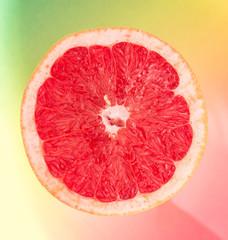 slice of ripe grapefruit close-up