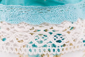 ivory-colored lace cloth