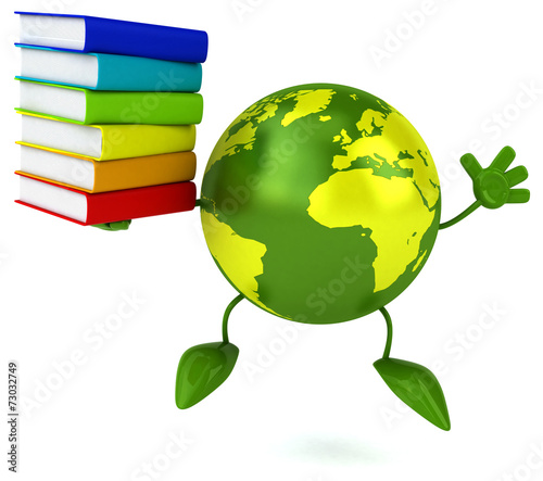canvas print picture Green world