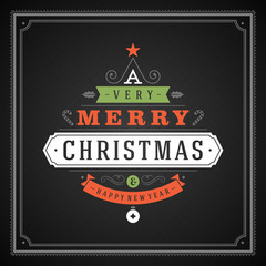 Christmas tree typography from ornament vector background