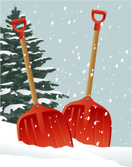 Christmas shovels