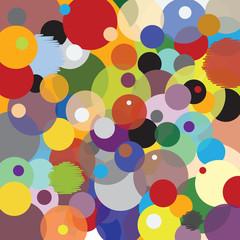 Motif Cercles - Multicolore - Accumulation
