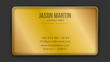 Golden creative business card