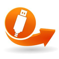 connexion usb sur bouton web orange