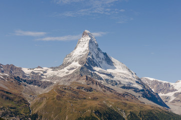 Zermatt, Dorf, Alpenregion, Schweizer Alpen, Wallis, Sommer