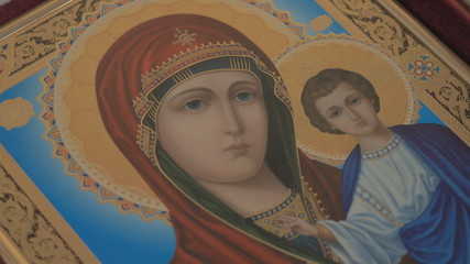 Madonna (Mary) of Jerusalem and a child (Jesus Christ) HD