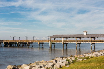 St Simons Pier and Brunswick Bridge