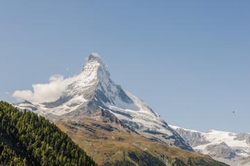 Zermatt, Dorf, Walliser Berge, Gleitschirme, Alpen, Schweiz