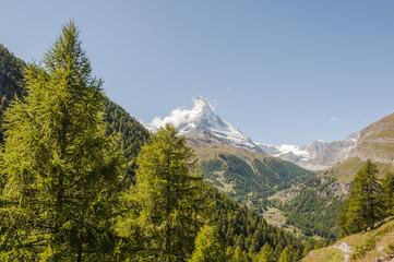 Zermatt, Dorf, Alpen, Walliser Berge, Sommerwanderung, Schweiz