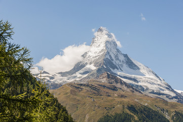 Zermatt, Bergdorf, Walliser Berge, Alpen, Hörnlihütte, Schweiz