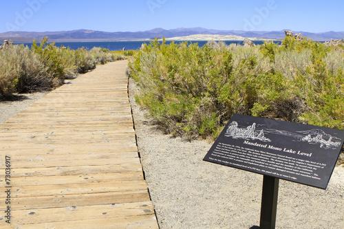 Deurstickers Droogte Mono Lake