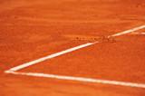 Baseline footprint on a tennis court