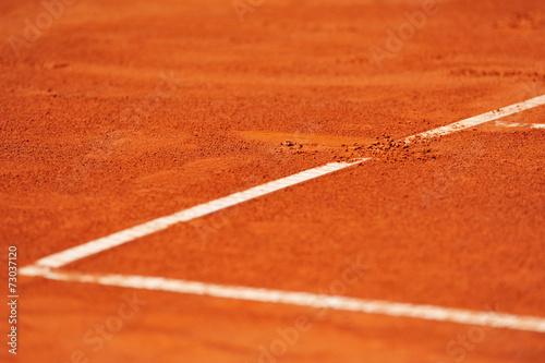 Baseline footprint on a tennis court - 73037120