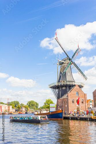 Fotobehang Kanaal Haarlem, Netherlands
