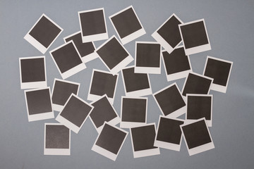 Set of blank instant photo frames