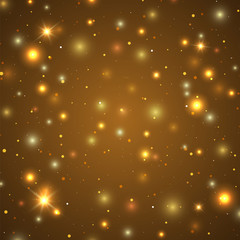 Background with particles and stars