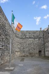 Irish Flag in Kilmainham Gaol in Dublin