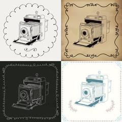 Vintage Hand-Drawn Camera Variations