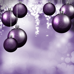 Purple Baubles this Christmas Season