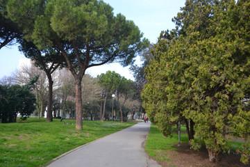 City park in Rimini.