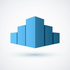 Real estate conceptual logo icon.