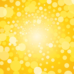 Abstract yellow background with bubbles
