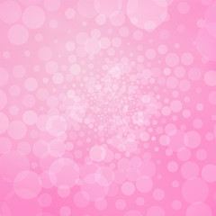 Abstract pink background with bubbles