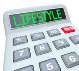 Lifestyle Word Calculator Figure Budget Spending Finances poster