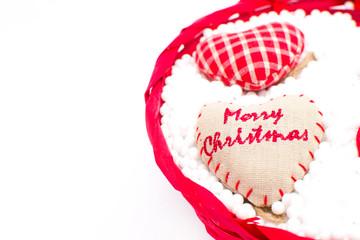 Cesta de Navidad con corazones