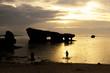 沖縄の夕景・真栄田ビーチ