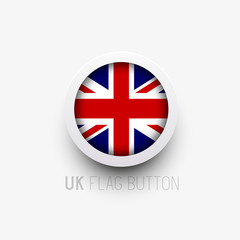 A UK flag vector button. Vector illustration.