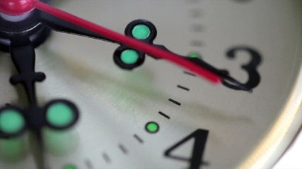 A close up of clock with second hand moving