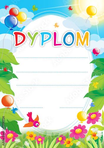 Fototapeta Diploma for Polish children