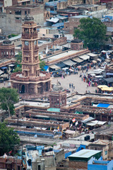 Roofs and clock tower in Jodhpur