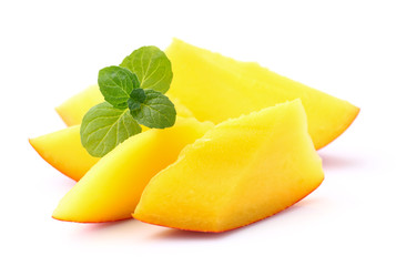 Mango with mint