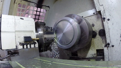 Industrial metal work machining process by cutting tool