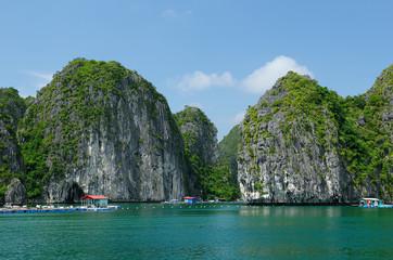 Floating village in Vietnam, Halong Bay