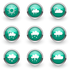 weather forecast vector icons set