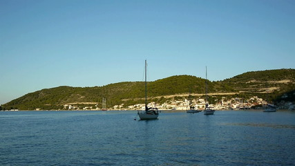 Beautiful bay of island Vis in Croatia