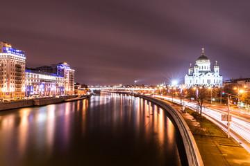 Вид с Большого Каменного Моста в сторону Храма Христа Спасителя.