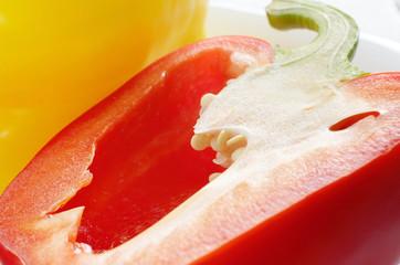 Healthy fresh red pepper