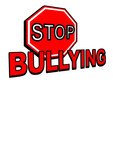 Stop Bullying sign vector in red poster