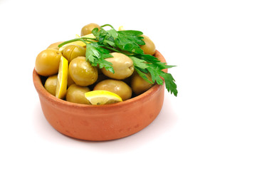 organic agricultural products, green olives